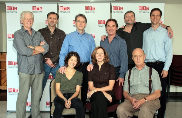 front: Maite Alina, Kathleen McNenny, Gerry Bamman, back: Michael Siberry, Randall Newsome, Boyd Gaines, Richard Thomas, John Procaccino, James Waterston