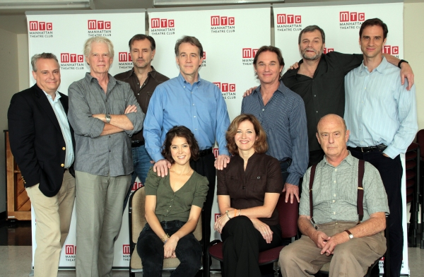 front: Maite Alina, Kathleen McNenny, Gerry Bamman, back: Doug Hughes, Michael Siberry, Randall Newsome, Boyd Gaines, Richard Thomas, John Procaccino, James Waterston