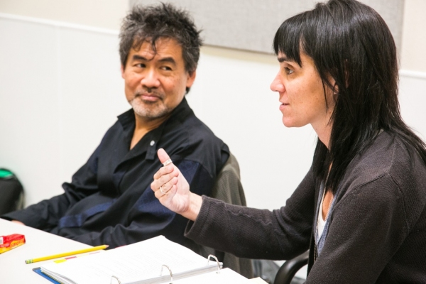David Henry Hwang and Leigh Silverman  at David Henry Hwang, Leigh Silverman and More in Rehearsal for CHINGLISH at Berkeley Rep