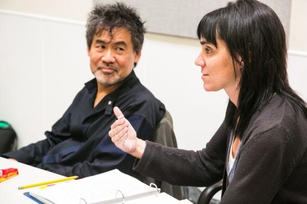 David Henry Hwang and Leigh Silverman  at David Henry Hwang, Leigh Silverman and More in Rehearsal for CHINGLISH at Berkeley Rep