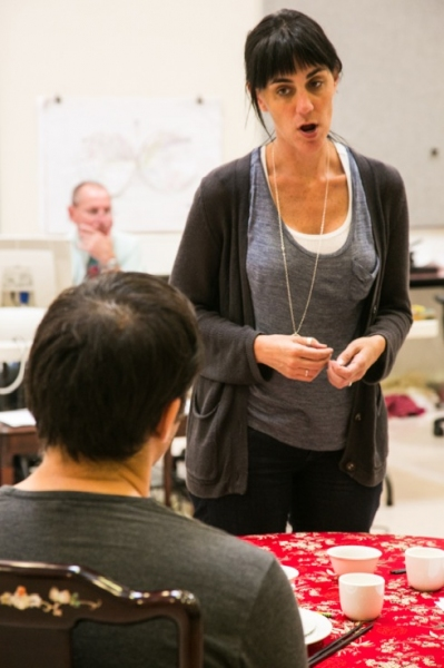 Leigh Silverman leads a rehearsal for Chinglish at David Henry Hwang, Leigh Silverman and More in Rehearsal for CHINGLISH at Berkeley Rep