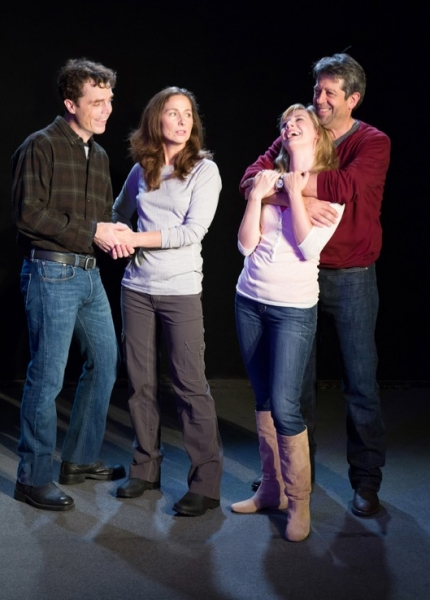 """Mark Anderson Phillips as """"James Dodd,"""" Rebecca Dines as """"Sarah Goodwin,"""" Sarah Moser as """"Mandy Bloom,"""" and Rolf Saxon as """"Richard Ehrlich"""""""