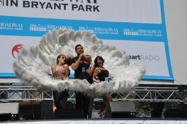 Tony Yazbeck and the cast of Chicago at NEWSIES, REBECCA and More Perform at Broadway in Bryant Park!