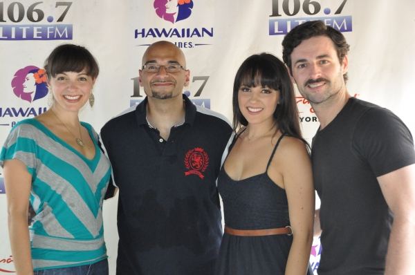 Victor Sosa with Christina DeCicco, Max Von Essen and Rachel Potter