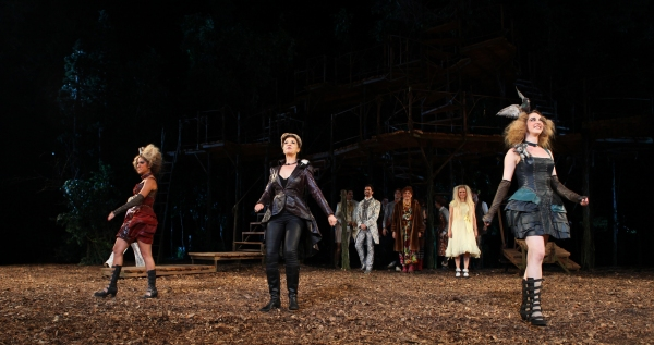 Jennifer Rias, Ellen Harvey & Victoria Clark at INTO THE WOODS Opening Night Curtain Call!