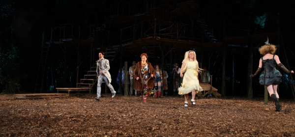 Cooper Grodin, Kristine Zbornik & Tess Soltau at INTO THE WOODS Opening Night Curtain Call!