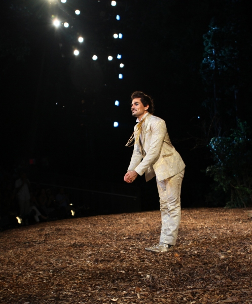 Ivan Hernandez  at INTO THE WOODS Opening Night Curtain Call!