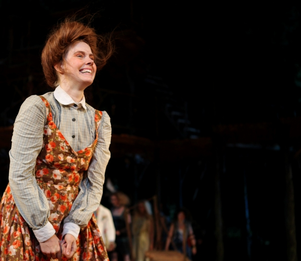 Amy Adams  at INTO THE WOODS Opening Night Curtain Call!