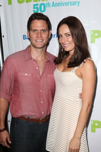 Steven Pasquale & Laura Benanti  at INTO THE WOODS Red Carpet Arrivals!