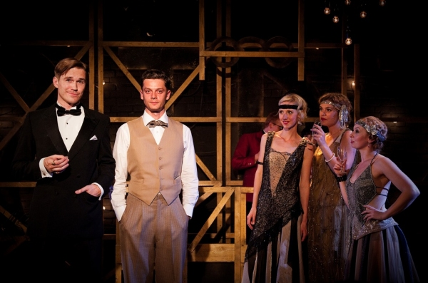 Sean Browne (Gatsby), Raphael Verrion (Nick), Peta Cornish (Jordan) Anna Maguire (Cat Photo