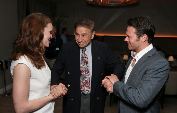 Rachel Wallace, Richard M. Sherman and Nicolas Dromard at Opening Night at MARY POPPINS in LA at the Ahmanson