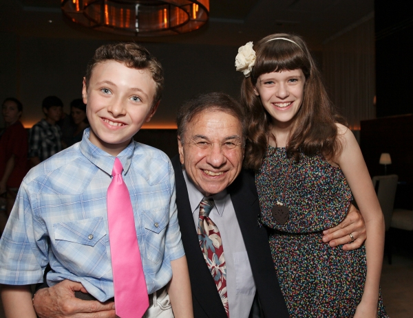Zachary Mackiewicz, with composer Richard M. Sherman and Cherish Myers