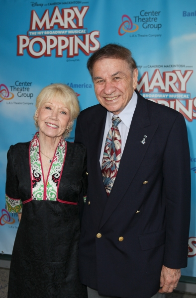 Elizabeth Sherman and Richard M. Sherman at Opening Night at MARY POPPINS in LA at the Ahmanson