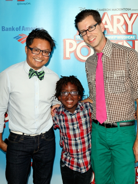 Alec Mapa poses with son Zion Hebert-Mapa and Jamison Hebert
