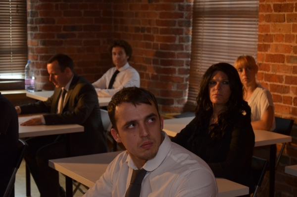 Ben Rigby, Haydn Holden, Emma Wilkinson, Natalie Perry, David Degiorgio in Exam