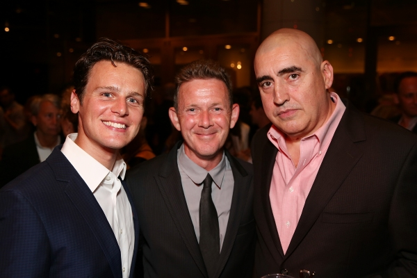 Jonathan Groff, John Logan and Alfred Molina at Jonathan Groff and Alfred Molina-Led RED Opens in LA- Betty White, Zachary Quinto and More!