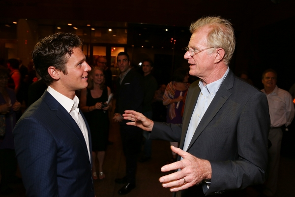 Jonathan Groff and Ed Begley, Jr. at Jonathan Groff and Alfred Molina-Led RED Opens in LA- Betty White, Zachary Quinto and More!