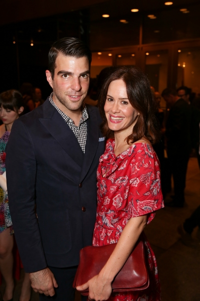 Zachary Quinto and Sarah Paulson at Jonathan Groff and Alfred Molina-Led RED Opens in LA- Betty White, Zachary Quinto and More!