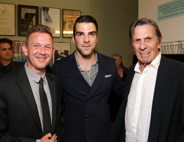 John Logan, Zachary Quinto and Leonard Nimoy