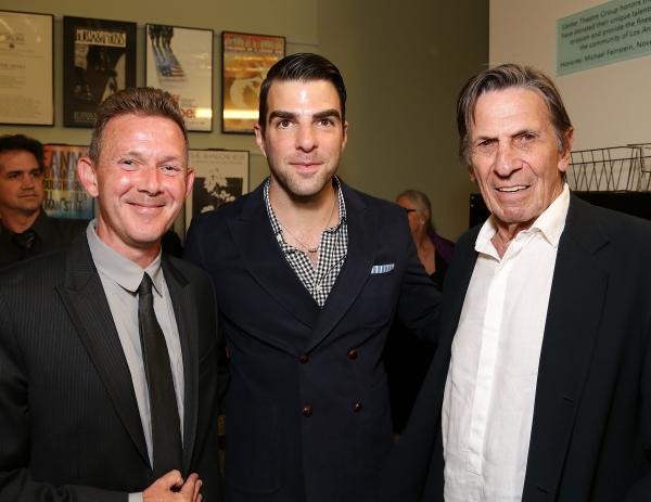 John Logan, Zachary Quinto and Leonard Nimoy Photo