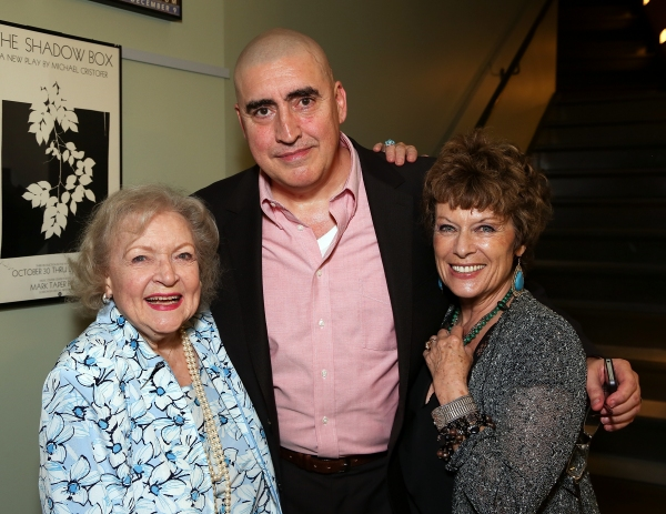 Betty White, Alfred Molina and wife Jill Gascoine