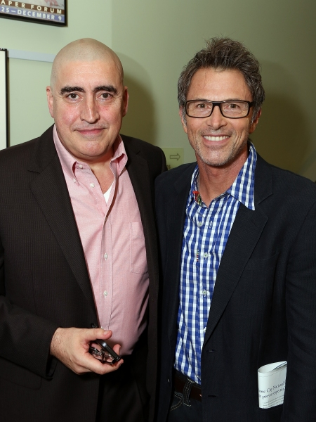 Alfred Molina and Tim Daly