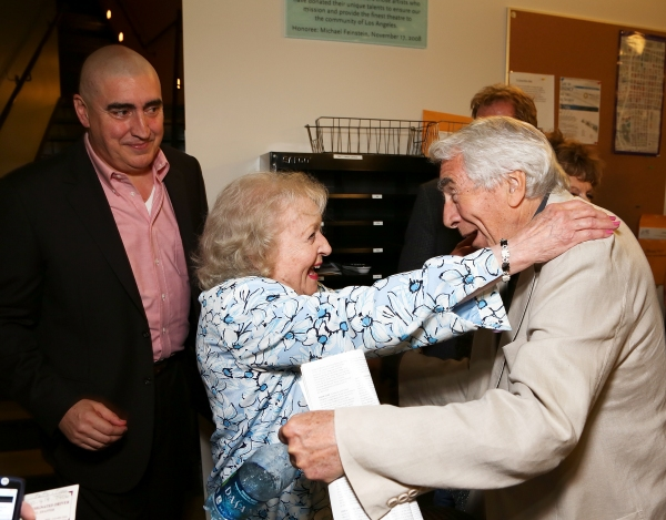 Alfred Molina and Betty White with CTG Founding Artistic Director Gordon Davidson