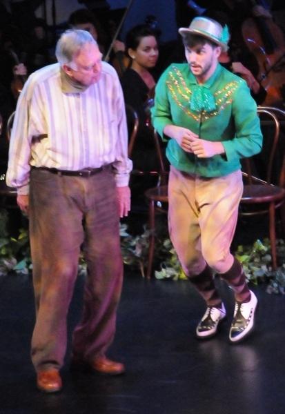 Finian's Rainbow 2011: Charles Krohn (as Finian) and Mark Ivy (as Og the Leprechaun). Photo