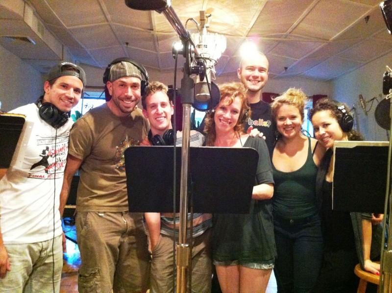 Photo Flash: The Cast of TRIASSIC PARQ in the Recording Studio