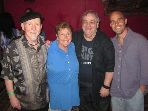composer alan o'day, helen reddy, actor edward donovan, helen's son jordan sommers at BWW Reviews: Helen Reddy Makes Triumphant Return to Singing at the Canyon Club