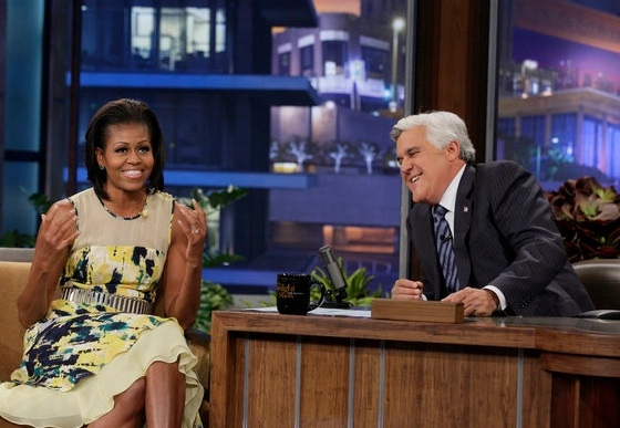 Michelle Obama at Michelle Obama, Gabby Douglas Guest on JAY LENO
