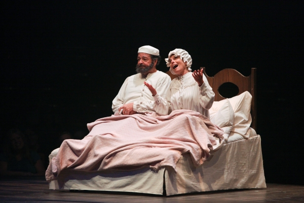Bob Amaral and Adrienne Barbeau as Tevye and Golde