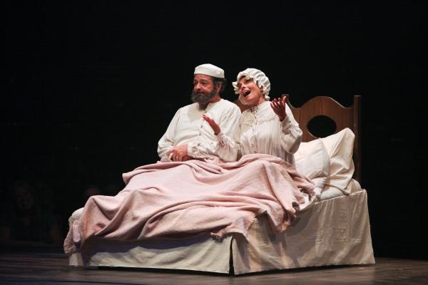 Bob Amaral and Adrienne Barbeau as Tevye and Golde