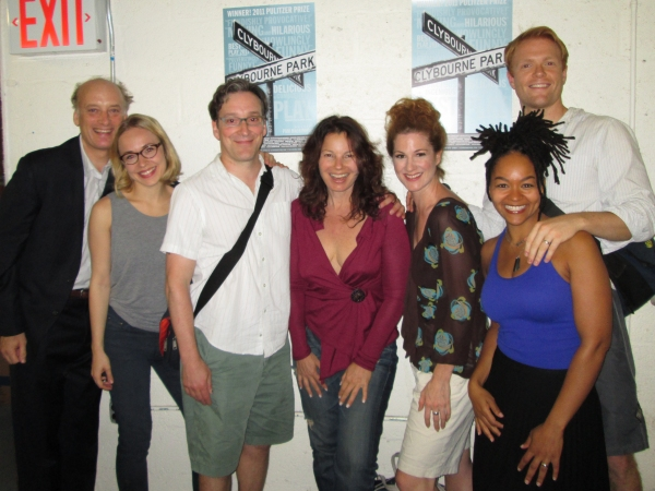 Frank Wood, Sarah Goldberg, Jeremy Shamos, Fran Drescher, Carly Street, Crystal Dickinson and Brendan Griffin