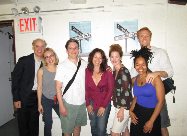 Frank Wood, Sarah Goldberg, Jeremy Shamos, Fran Drescher, Carly Street, Crystal Dickinson and Brendan Griffin