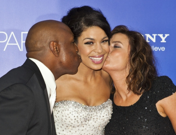 Jordin Sparks with parents Jodi and Phillippi Sparks