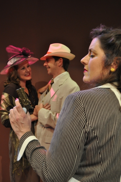 (from l-r) Kaity Talmage-Bowers (as Kay Mostyn), Christian Mast (as Simon Mostyn) and Haley Johnson (as Jacqueline de Severac)