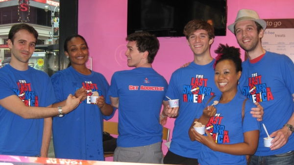 Andy Sandberg, Natalie Venetia Belcon, Tyler Jones, Jake Boyd, Ashanti J'Aria and John Walton West  at LAST SMOKER IN AMERICA Cast Celebrates Tasti D-Lite Treat!