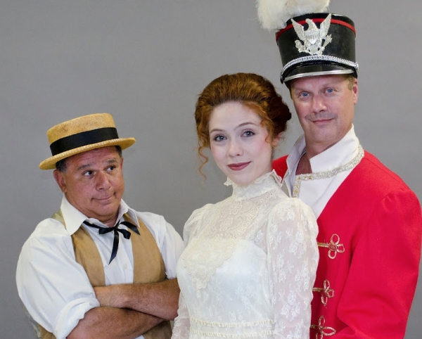 Jimmy Vinetti, Katie Weigl and John Ade at First Look - BCP's THE MUSIC MAN, Opening 9/8