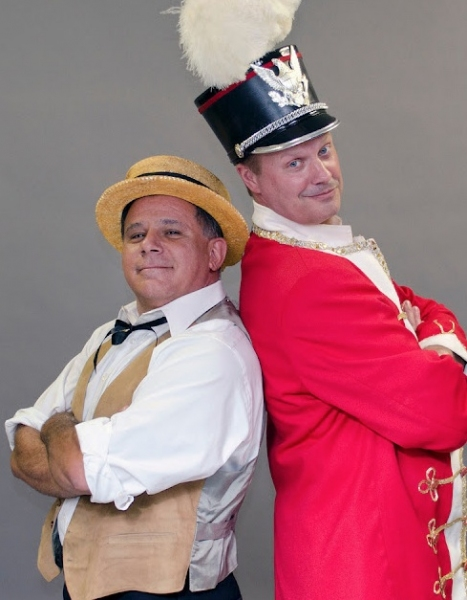 Jimmy Vinetti and John Ade at First Look - BCP's THE MUSIC MAN, Opening 9/8