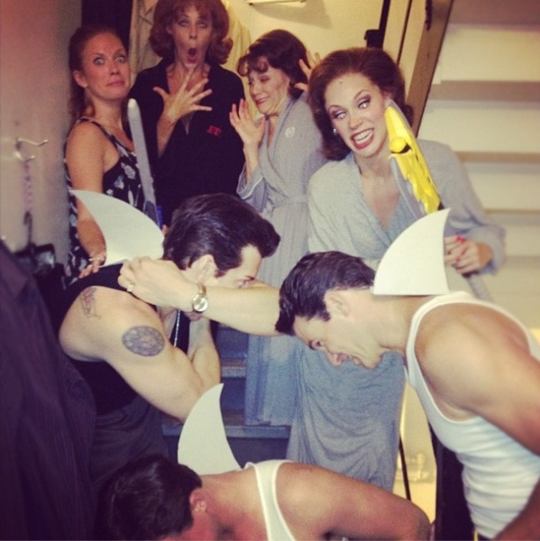 "JERSEY BOYS' Candi Boyd-Kaitila ""and Company @Candikaitila It's shark week! Jersey Boys Broadway cast #sip @candikaitila, Sara Schmidt, Cara Cooper, Andy Karl, Matt Bo http://instagr.am/p/Oey4QaMZEY/"