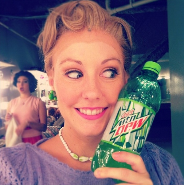 "THE NUTTY PROFESSOR's Sarah Jenkins (TPAC) ""@SarahMJenkins My GoGoJuice! #honeybooboo #SIP @nuttymusical http://instagr.am/p/OfhQF0GXbr/"