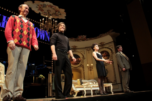 Jay Russell, Tom Pelphrey, Tracie Bennett, Michael Cumpsty at Final Curtain Call for END OF THE RAINBOW on Broadway