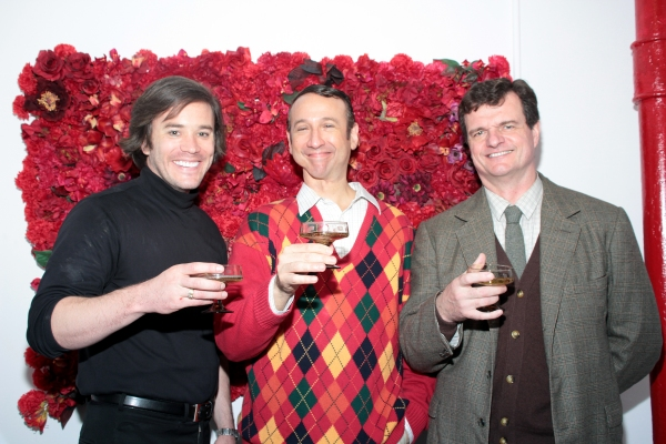 Tom Pelphrey, Jay Russell, Michael Cumpsty at Final Curtain Call for END OF THE RAINBOW on Broadway