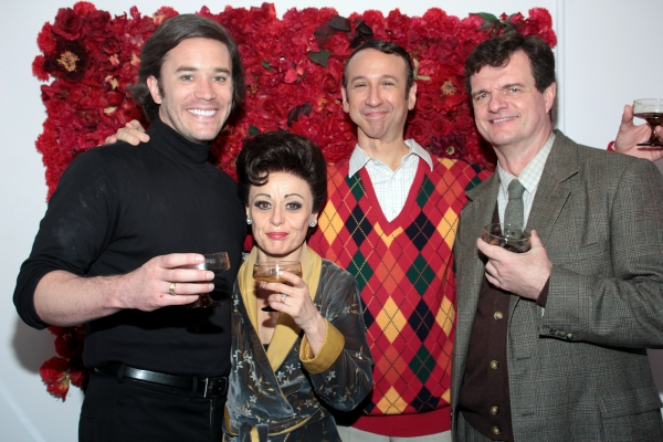 Tom Pelphrey, Tracie Bennett, Jay Russell, Michael Cumpsty at Final Curtain Call for END OF THE RAINBOW on Broadway