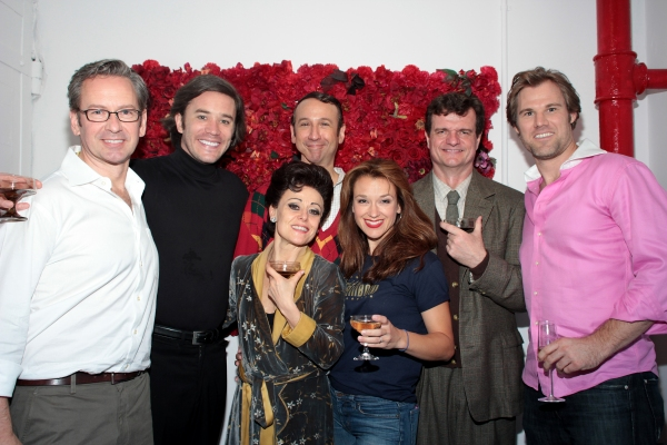 Don Noble, Tom Pelphrey, Tracie Bennett, Jay Russell, Sarah Uriarte Berry, Erik Hager at Final Curtain Call for END OF THE RAINBOW on Broadway