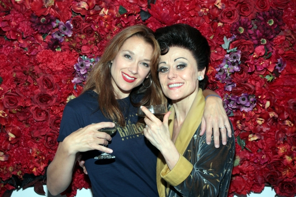 Sarah Uriarte Berry, Tracie Bennett at Final Curtain Call for END OF THE RAINBOW on Broadway