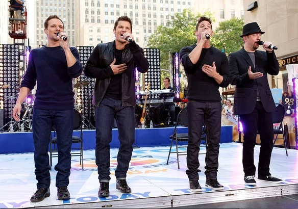 Drew Lachey, Nick Lachey, Jeff Timmons and Justin Jeffre