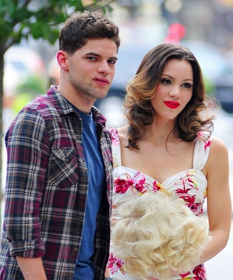 Photo Flash: Jeremy Jordan, Jennifer Hudson, Katharine McPhee on Set of SMASH
