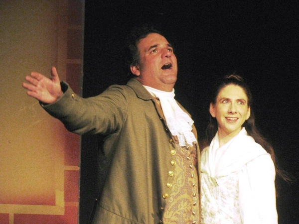 Steve Lobis of Morrisville (left) and Allison Deratzian of New Wales costar as Founding Father Robert Morris and his wife Mary
